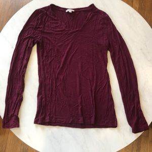 Simple Maroon Long Sleeve Tee ✨